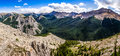 Panoramic view of Rocky mountains range, Alberta, Canada Royalty Free Stock Photo