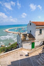 Panoramic view of rodi garganico puglia italy Stock Images