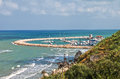 Panoramic view of rodi garganico puglia italy Stock Photography
