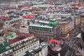 Panoramic view from the roof of st stephen s cathedral vienna austria Royalty Free Stock Images