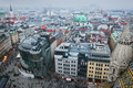 Panoramic view from the roof of st stephen s cathedral vienna austria Stock Images