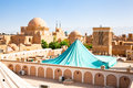 Panoramic view on  roofs and windcatcher of Kashan Royalty Free Stock Photos