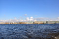 Panoramic view of Saint Petersburg from Neva river Royalty Free Stock Photography