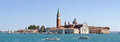 Panoramic view of San Giorgio island and San Marco Basin, Venice - Italy Royalty Free Stock Photo