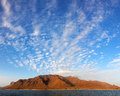 Panoramic view of santa luzia volcanic island cape verde with beautiful evening sky cabo africa Stock Image