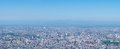 Panoramic View of Sapporo cityscape Stock Photo