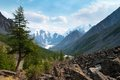 Panoramic view of savlo rock face altai range mountains russia Stock Photo