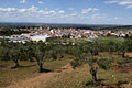 Panoramic view of serpa portugal the town is a sleepy hill top town in rural alentejo region Stock Photos