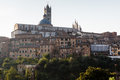 Panoramic View of Siena with the Cathedral Royalty Free Stock Photo