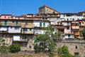 Panoramic view of Soriano nel Cimino. Lazio. Italy. Stock Photography