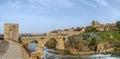 Panoramic view of  st. Martin bridge, Toledo, Spain Royalty Free Stock Photo