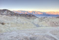 Panoramic view at sunrise of zabriskie point death valley national park Royalty Free Stock Photos