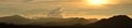 Panoramic view of the sunset over the mountains of mexico Stock Image