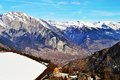 Panoramic view of Swiss Alps Royalty Free Stock Photo