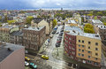 Panoramic view of szczecin city stettin poland Stock Image