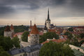 Panoramic view of tallinn old city center estonia Royalty Free Stock Photos
