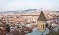 Panoramic view. Tbilisi. Georgia. Royalty Free Stock Photos