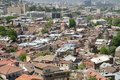 Panoramic view of tbilisi at roofs old town from narikala fortress georgia Stock Photography