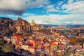 Panoramic view of Tbilisi at sunset