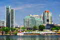 Panoramic view to the Donau City, Vienna