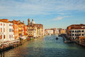 Panoramic view to Grande Canal in Venice, Italy Stock Photography