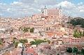 Panoramic view of Toledo. Royalty Free Stock Photo