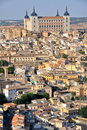 Panoramic view of Toledo and Alcazar, Spain Stock Image