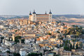 Panoramic view of Toledo and Alcazar, Spain Royalty Free Stock Photography