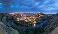 Panoramic view of Toledo after sunset, Spain Royalty Free Stock Photo