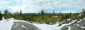 Panoramic view from the top of the Koli National Park Royalty Free Stock Photo
