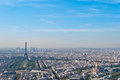 Panoramic view on Tour Eiffel and La Defense, Pari Stock Photos