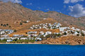 Panoramic view of traditional village on paros island greece Stock Image