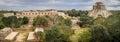 Panoramic view of Uxmal Ancient Maya city, Yucatan, Mexico Royalty Free Stock Photo