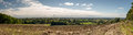 Panoramic view of the vale of york north yorkshire england a september looking towards Stock Photography