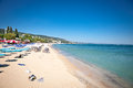 Panoramic view on varna beach in bulgaria black sea Stock Image