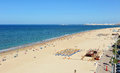 Panoramic view of Victoria Beach, Costa de la Luz, Cadiz, Andalusia, Spain Royalty Free Stock Photo