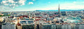 Panoramic view of Vienna city Royalty Free Stock Photo