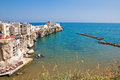 Panoramic view of Vieste. Puglia. Italy. Stock Photos
