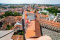 Panoramic view of vilnius old town on red roofs in lithuania Stock Photos