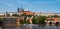 Panoramic view of the Vltava River Stock Photography