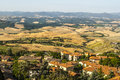 Panoramic view from volterra tuscany pisa italy at summer Royalty Free Stock Photo