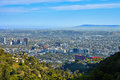 Panoramic view of the west hollywood from hills los angeles california Royalty Free Stock Photos
