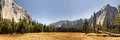 Panoramic view of Yosemite Valley, California Stock Photo