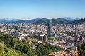 Panoramic views of Bilbao city, Bizkaia, Basque Country, Spain. Royalty Free Stock Photo