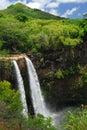 Panoramic waterfall in Hawaii Royalty Free Stock Photo