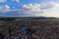 Panoramic wide bird eye view at city of florence italy Stock Photography