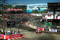 Panoramique de toyota grand prix de long beach Photographie stock
