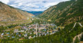 Panorma of historic Georgetown, Colorado Royalty Free Stock Photo