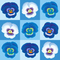 Pansy blue wallpaper seamless background can be created Royalty Free Stock Images