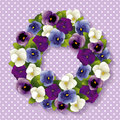 Pansy Wreath Stock Photo